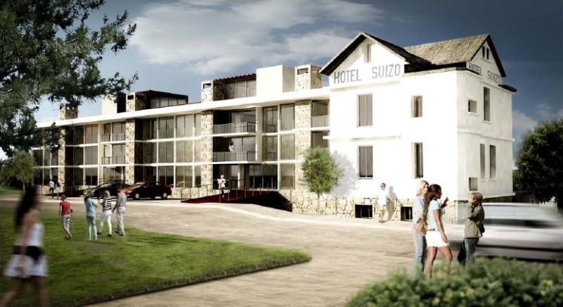 Hotel Suizo: Vista trasera